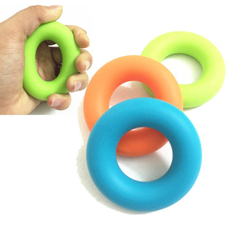 Hand Grip Ring Silicone Therapy Finger Gym Fitness Exerciser Muscle Grip Strength Sport Wrist Training Equipment Rehabilitation high grade finger grip ball rehabilitation training equipment middle aged and young people partial stroke exercise finger grip