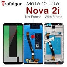 טרפלגר תצוגה עבור Huawei נובה 2i Lcd תצוגת Mate 10 לייט מגע מסך עבור Huawei נובה 2i תצוגה עם מסגרת החלפה