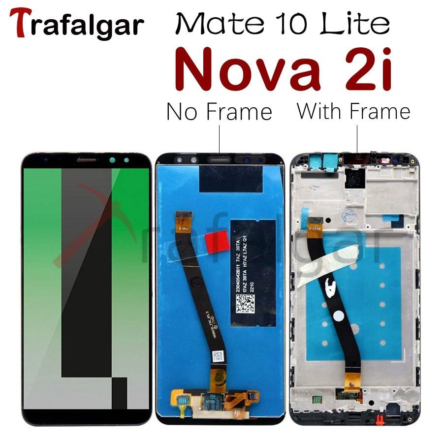 Pantalla Trafalgar para Huawei Nova 2i Lcd Display Mate 10 Lite pantalla táctil para Huawei Nova 2i Display con reemplazo de Marco