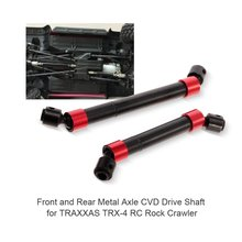 RC Parts and Accessories2PCS TRX4 Metal CVD Drive Shaft for 1/10 RC Rock Crawler 324MM Wheelbase Traxxas TRX-4 RC Car цена