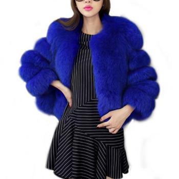 S-4XL Mink Coats Women Winter Overcoat New Fashion Faux Fur Coat Elegant Thick Warm Fur Jacket Outerwear Fake Fur Coat faux fur coat women winter jacket fashion warm thick hooded coat outerwear winter female teddy coats