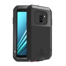 Metal samsung kılıfı Galaxy A5 A3 A7/Alfa Darbeye Kapak 360 Tam Vücut Koruyucu Zırh samsung kılıfı A8 A6 A9 2018 artı