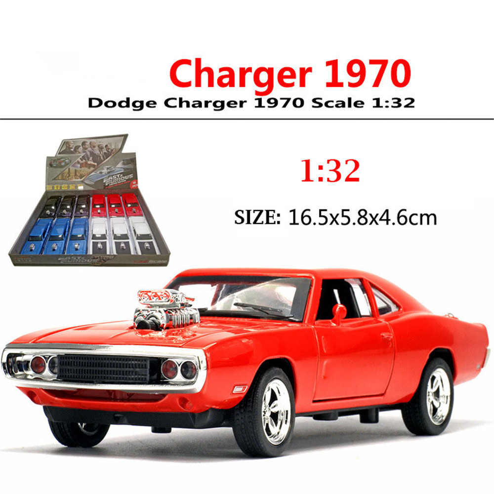 1/32 Fast&Furious Dodge Charger Car Model Diecast Alloy Horses Muscle Vehicle Models With Sound Lighting Toy Gift For Collection 3