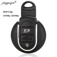 Jingyuqin o em 315Mhz /433mhz ID49 clé de voiture à distance pour BMW Mini Clubman 14 17 clé automatique en cuivre 3 boutons sans clé go