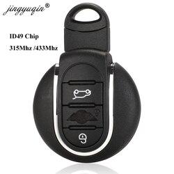 jingyuqin O-em 315Mhz /433mhz ID49 Remote Car Key for BMW Mini Clubman 14-17 Copper Auto key 3 Buttons Keyless go