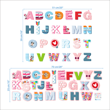Cartoon Minnie Mickey 26 Letters Alphabet Wall Stickers For Kids Room Art Decor Decals Diy Removable Posters