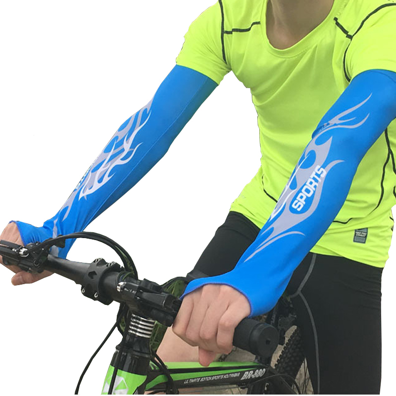 1Pair Sun Sleeves Cool Ice Long Large Arm Sleeves UV Protection For Youth&Adult Men&Women Outdoor Sports