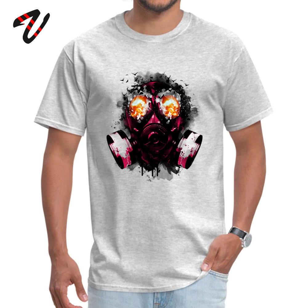 100% Cotton Fabric Men Short Sleeve EXPLODE Borderlands Game T-shirts Comfortable Tops Shirts Faddish Round Collar Tee-Shirt image