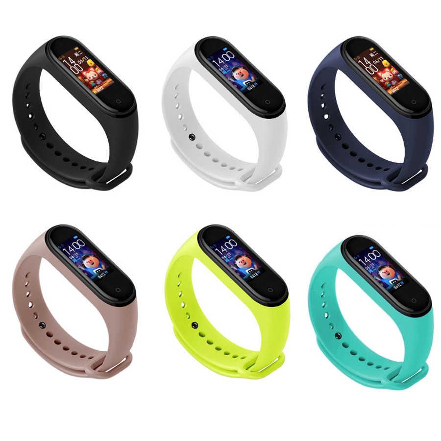 צבעים צמיד לxiaomi Mi Band 4 3 ספורט רצועת שעון סיליקון רצועת יד עבור xiaomi mi band 3 4 צמיד Miband 4 3 רצועה