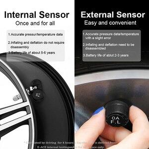 Image 4 - Système de surveillance dalarme de pression des pneus de voiture TPMS dénergie solaire de E ACE
