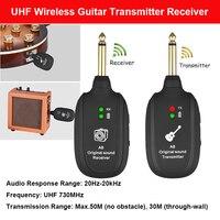 A8 UHF bezprzewodowy nadajnik odbiornik gitarowy zestaw bezprzewodowy nadajnik gitarowya8 UHF bezprzewodowy nadajnik odbiornik gitarowy zestaw Guita w Bezprzewodowe adaptery od Elektronika użytkowa na