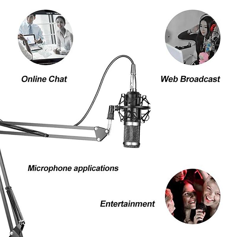 Qualidade BM-800 pendurado microfone kit, transmissão ao