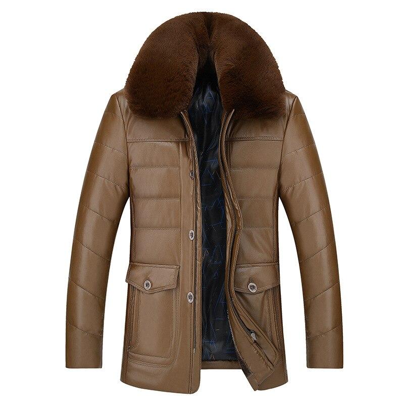 Зимнее плюшевое меховое пальто для мужчин среднего возраста с большим воротником из волос куртка для отца из кожи 40 55 пальто из искусственной кожи для мужчин среднего и пожилого возраста 2|Куртки| | АлиЭкспресс