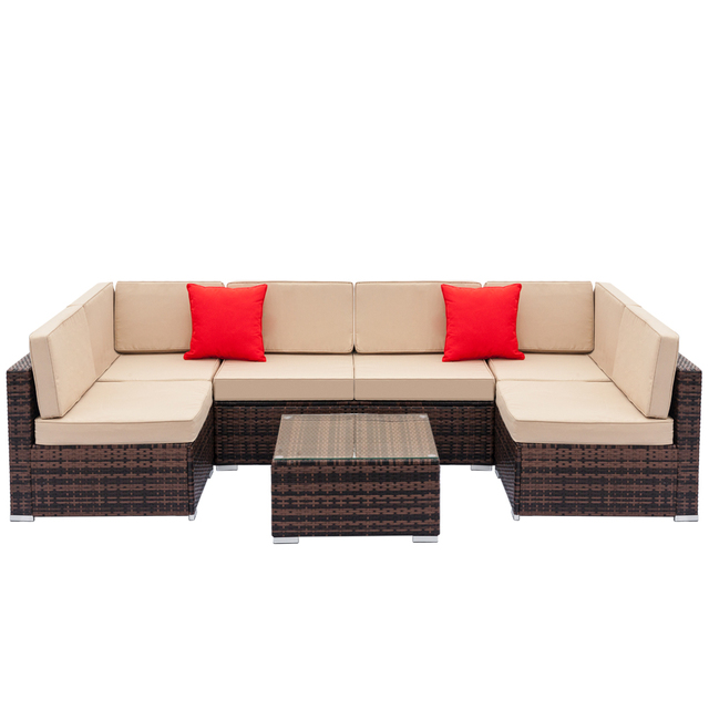 Fully Equipped Weaving Rattan Sofa Set  2
