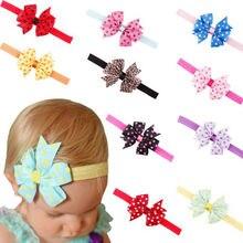 Горячие 1 шт. Новорожденный ребенок девочка милый повязка на голову младенец девочки малыш красочный бант волосы резинка аксессуары