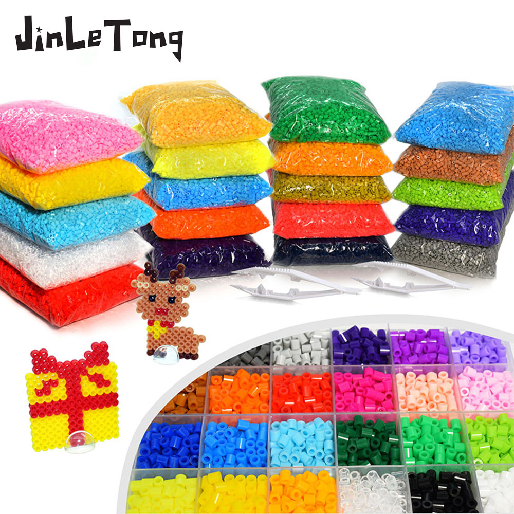 Hama Beads 5mm About 8000 Pieces 500g 57 Colors Pearly Iron Beads For Kids Hama Beads Diy Puzzle Game