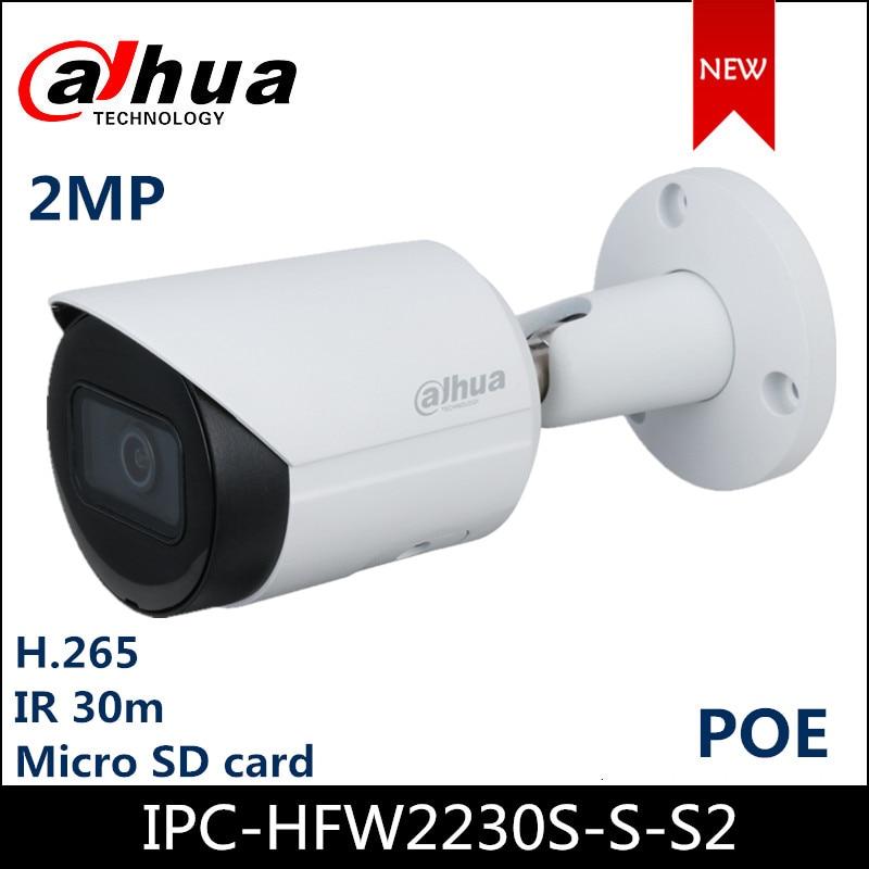 Dahua IP Camera IPC-HFW2230S-S-S2 2MP IR Bullet Network Camera Support POE Upgraded Version Of IPC-HFW1230S-S2