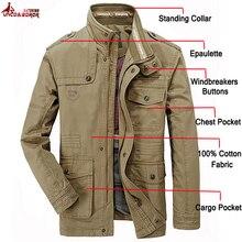 Куртка карго Мужская тактическая, 100% хлопок, пиджак бомбер в стиле милитари, деловой стиль, брендовая одежда