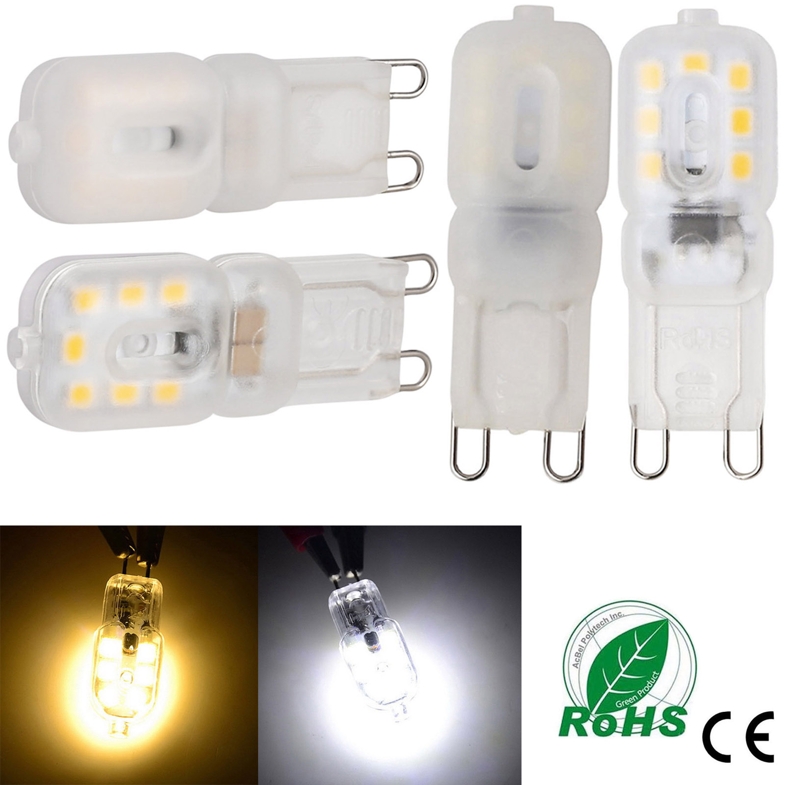 10PCS/lot Mini <font><b>LED</b></font> Lamp <font><b>G9</b></font> 3W High Bright Lampada <font><b>LED</b></font> 110V <font><b>220V</b></font> SMD 2835 Bombillas <font><b>LED</b></font> Bulb Replace 40W Halogen <font><b>Ampoule</b></font> Luz image