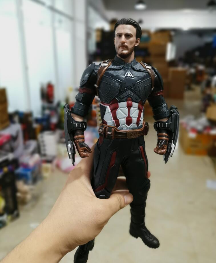 28cm Loucos Brinquedos Marvel Avengers Capitão América
