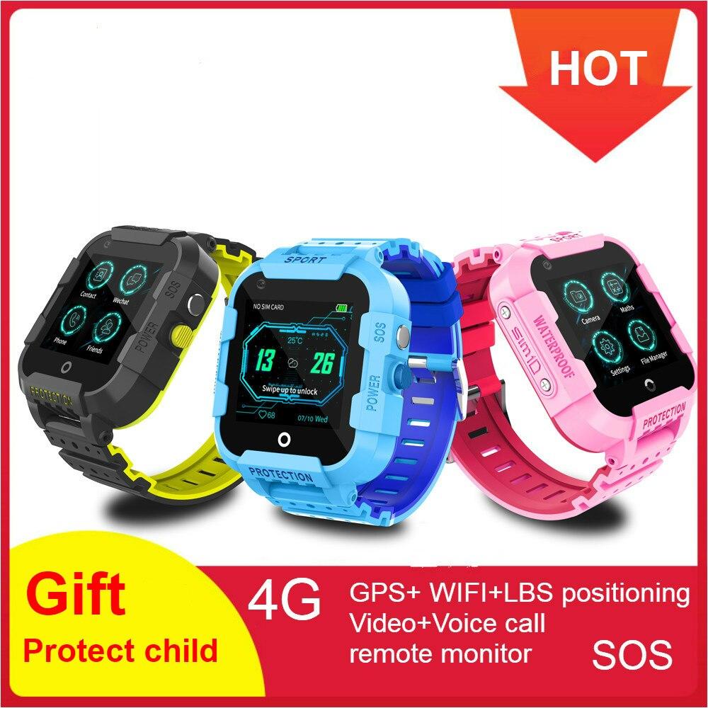 696 DF39Z Crianças Relógio Inteligente 4G Smartwatch GPS Wifi Touch Screen Tracker SOS SIM Telefonema Câmera À Prova D' Água Crianças relógio DF39