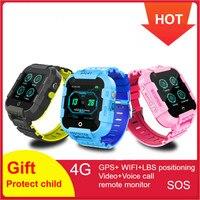 696 DF39Z Kids Smart Watch 4G GPS Smartwatch Wifi Tracker Touch Screen SOS SIM Phone Call Waterproof Children Camera Watch DF39