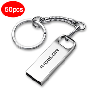 50 stuks veel/bulk Dropship USB Flash Drives 512MB 256MB 128MB Groothandel Memory Stick Metalen Pendrive disk Cle USB 2.0 Freeshipping