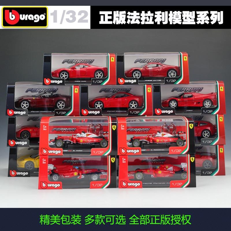 Bburago 1:32 Ferrari simulation alloy car model sports car model with base plexiglass cover Collect gifts toy