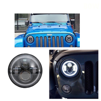 2 pcs 7 inch LED Halo Headlights+2 pcs Fog Lights For Headlamps with Halo Ring Amber Turn Signal For Jeep Lada Niva 4x4 4x4
