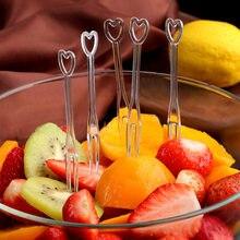 100pcs Fruit Fork Mini Clear Disposable plastic Forks For Party BBQ Sticks Picks Skewer Set Home Dining Food Cake Fruit Fork