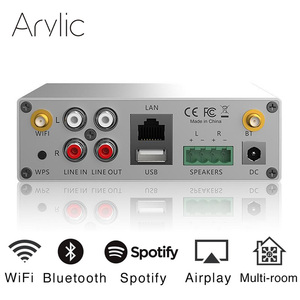 Мини домашний Wi-Fi ресивер Arylic A50 и Bluetooth, Hi-Fi, усилитель мощности, стерео, класс D, цифровой мультикомнатный сетевой аудио усилитель с usb