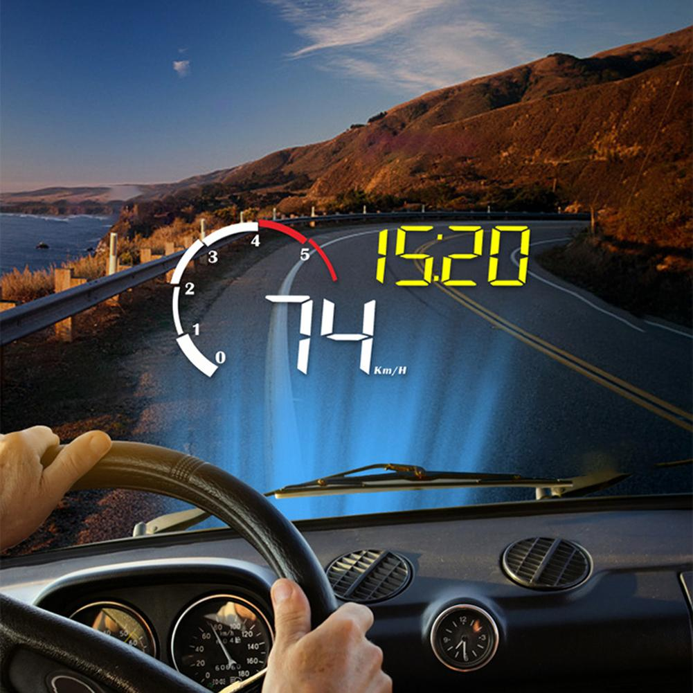 M10 Car GPS HUD Windshield Projector Digital Speed Head up Display with Visor Alarm System Universal Auto Motorcycle Accessories|Car Monitors| |  - title=
