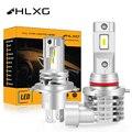 HLXG H11 светодиодный H8 h7 H4 HB3 9005 HB4 9006 со светодиодными кристаллами для автомобиля лампы для передних фар диод мотоцикл противотуманная фара 4300 ...
