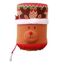 Прекрасный Рождество 5 галлонов диспенсер для воды крышка бутылки Санта/Лось/Снеговик кухонное украшение для дома LXY9