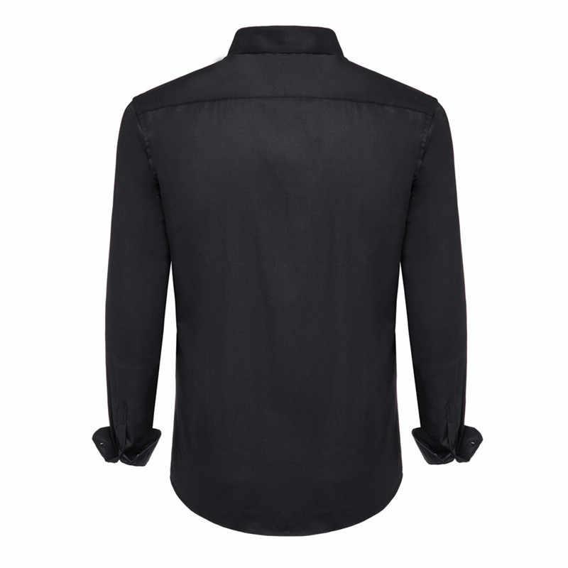 100% Cotton Dress Kemeja Kasual Lengan Panjang Plus Ukuran 8XL 7XL 6XL Kualitas Tinggi Fashion Gaya Bergaris Warna putih Biru N5136