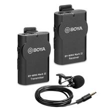 BOYA BY WM4 Mark II/Pro système de Microphone sans fil cravate micro pour Canon Nikon Sony DSLR caméscope enregistreur pour iPhone 6