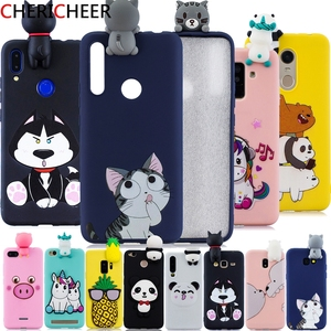 3D Toys Silicone Case For Honor 9X Premium Case Honor 9X 9 X Global STK-LX1 Candy Soft Bumper Cartoon Cover For Honor 9X Case(China)