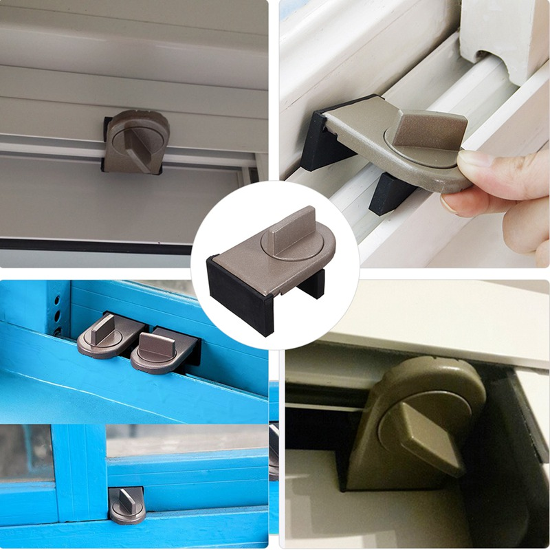 Window Security Sash Lock Sliding Security Limiter Lock Stop Door Restrictor Child Safety Anti-Theft Locks Home Hardware