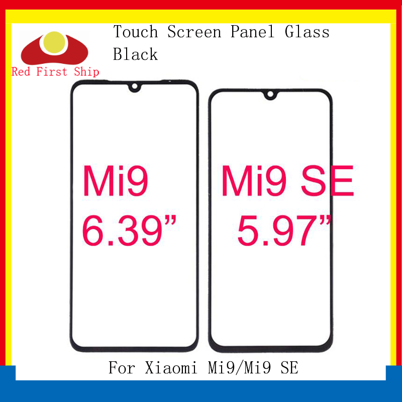 10Pcs/lot Touch Screen For Xiaomi Mi9/Mi9 SE Touch Panel Front Outer LCD Glass Lens Mi 9 Touchscreen Glass Replacement
