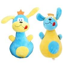 Encantadora grandes orejas perro bolos forma de alfiler de juguete juguetes de peluche juguete de seguridad Gato y perro creativo suministros para mascotas