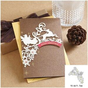 Craft metal cutting dies cut die mold Christmas deer tree snowflake Scrapbook paper craft knife mould blade punch stencils