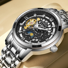 2021 WISHDOIT nowy modny męski zegarek luksusowy szwajcarski zegarek męski mechaniczny automatyczny pusty duży wybierania wodoodporny zegarek świetlny tanie tanio 3Bar CN (pochodzenie) Klamerka z zapięciem Moda casual Samoczynny naciąg 8 66inch STOP Odporna na wstrząsy Odblaskowe