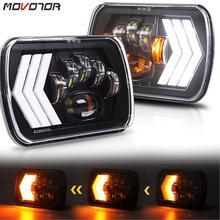 5x7 phare LED étanche scellé faisceau tourner Singal 7x6 pouces phares pour camion Cherokee XJ YJ