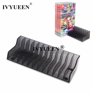 Image 1 - IVYUEEN 1 pcs for Nintend Switch NS Console Game Card Box Storage Stand Holder for NintendoSwitch Lite Disks Card Holder Stand