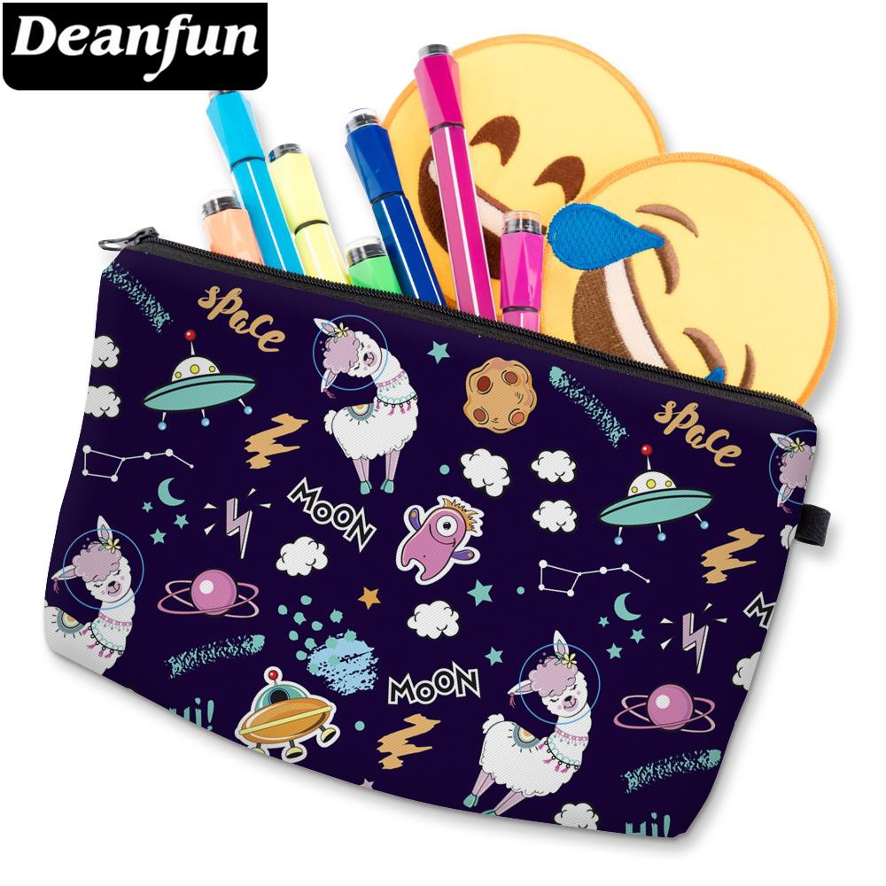 Deanfun 3D Printed Alpaca Cosmetic Bag Waterproof Girls Makeup Bag Makeup Storage Bags For Women D51481