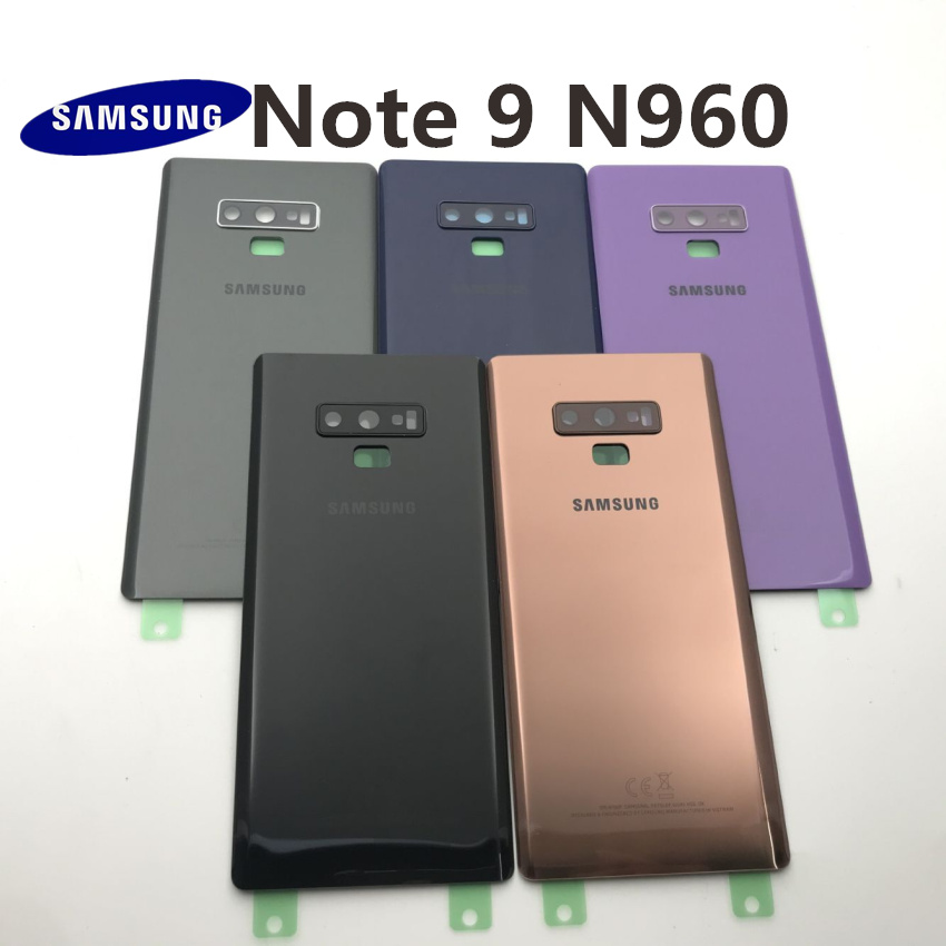 Samsung Galaxy NOTE 9 N960 N960F SM-N960FD Battery Back Cover Door Housing+ear Camera Glass Lens Frame Replacement Repair Parts