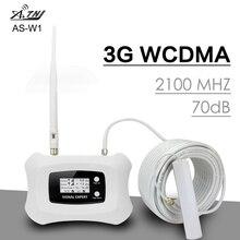 חכם 3G WCDMA 2100 טלפון נייד אות מהדר להקת 1 UMTS 3G 2100MHz מגבר אות 70dB רווח LCD תצוגת 3G WCDMA Booster