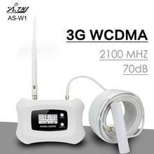 Thông Minh 3G WCDMA 2100 Lặp Tín Hiệu Ban Nhạc 1 UMTS 3G 2100MHz Khuếch Đại Tín Hiệu 70dB Tăng màn Hình LCD 3G WCDMA Tăng Áp