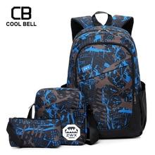 Nylon Waterproof 3pcs Bag Set Boys School Bags For Boys Kids School Backpack For Boy Bookbag Student Schoolbag Pen Pencil Bag vivacase dandy чехол для планшетов и e book 6 brown vuc cdn06 br