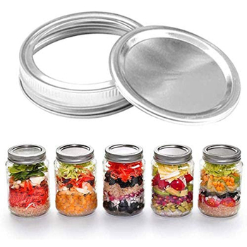 70/86mmMason Jar Lid Tinplate Sealing Tinplate Mason Jar Cover Leak-proof Metal Wide Mouth Food Cup Cover Bottle Cover image